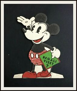 ⭐ Topolino Mickey Mouse sagomato VISET - Disney 1935 - DISNEYANA.IT ⭐