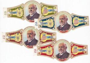 4 BIG cigar bands Washington President Jefferson T iss in 1963