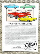 1962 1963 1964 1965 FORD FAIRLANE SPORT COUPE CAR LITERATURE FACT SHEET 74