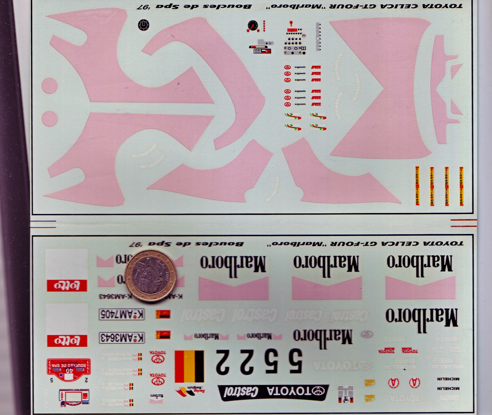 Decals decalcomanie deco ford ford ford toyota celica gt four 1997 1 24 e37d8c