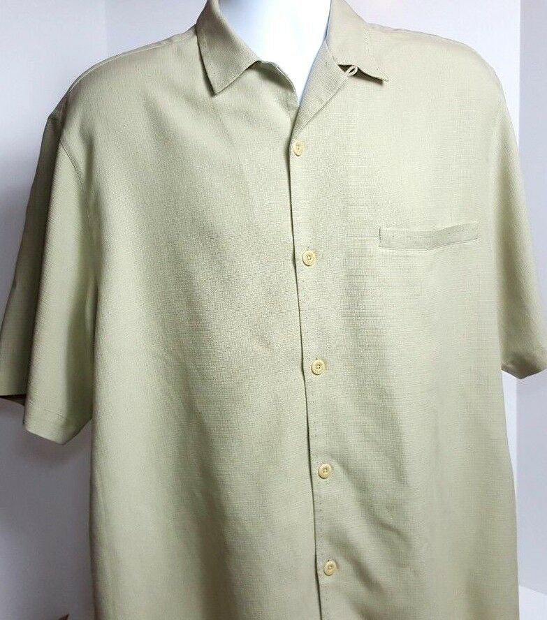 Nat Nast Luxury Originals Mens 100% Silk Camp Shirt Medium