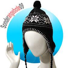 Castelli Inka Mütze Modell Norge Wintermütze warm Bommelmütze schwarz  Schnee