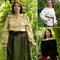 Womens Pirate Shirt - Perfect For Larp, Re-enactment Or Costume