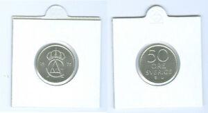 SUECIA-50-Ore-Recien-acunado-AUS-KMS-Seleccione-entre-1972-Y-1973