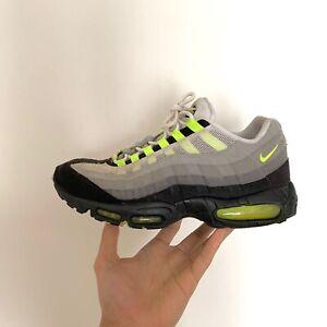Nike-Air-Max-95-Yellow-Neon-OG-2010-UK-10-Mens-Trainers-Grey-Black-RARE