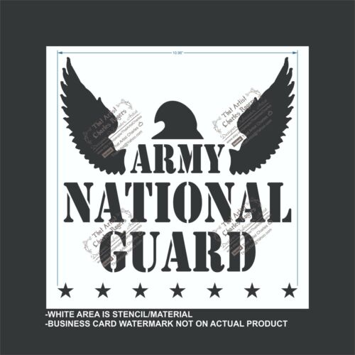 US Army National Guard Flexible Plastic Stencil Reusable