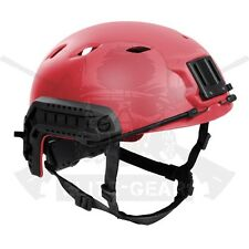 Red SWAT Military Tactical FAST Base Jump BJ type High Cut Helmet w/Rail L/XL