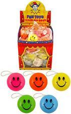 12 Smiley MINI POCKET YO-YOS - 38MM RETURN TOPS TOY LOOT/PARTY BAG WEDDING/KIDS