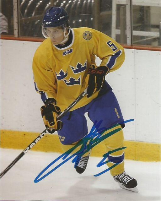 Team Sweden Adam Larsson Signed Autographed 8x10 NHL Photo COA D