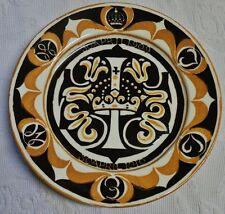 ASSIETTE COMMÉMORATIVE  1 AN DE LA PRINCESSE JULIANA DES PAYS-BAS 1909-10 D277