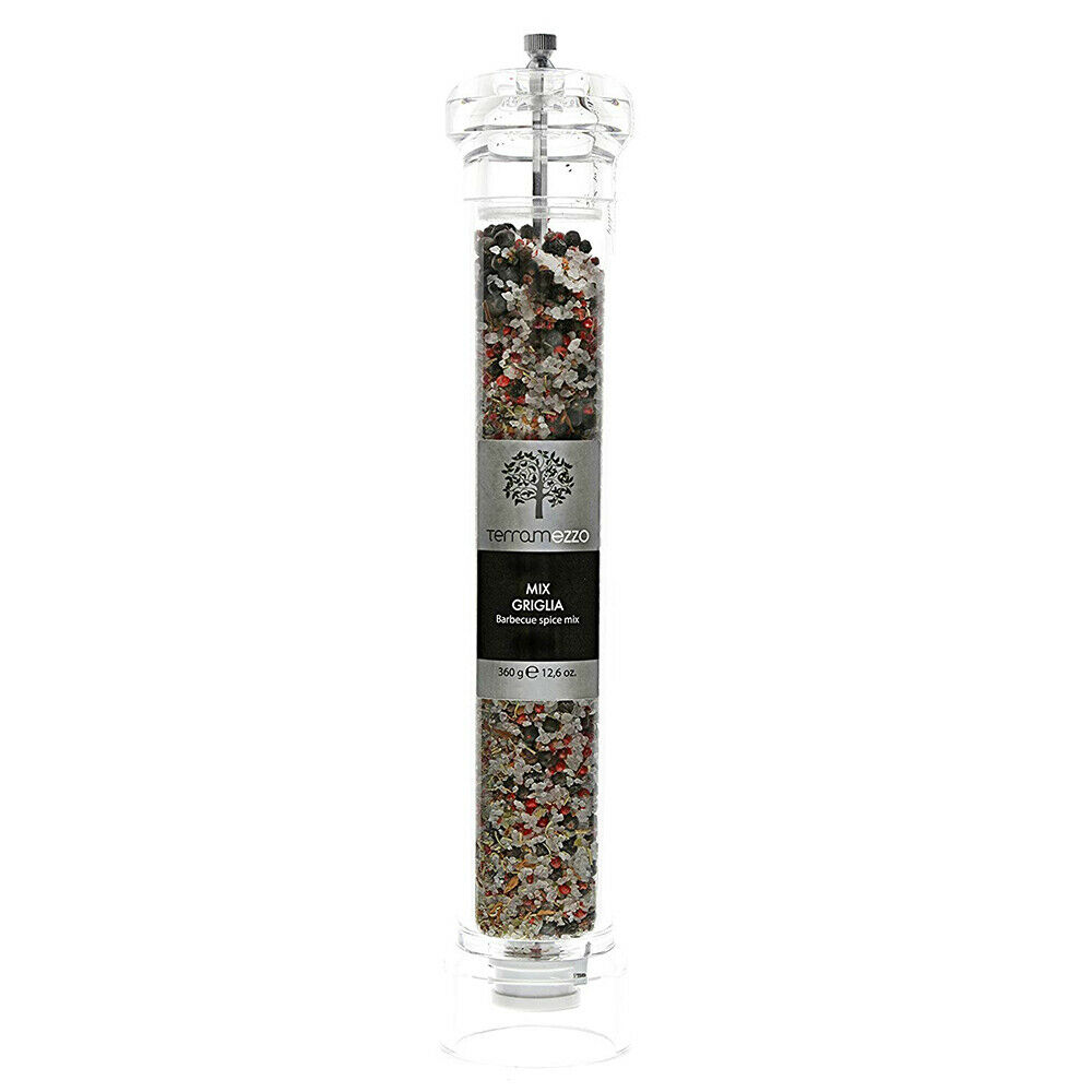 600g Terramezzo Sicilian Salt Ceramic Grinder Tomato based Pasta dishes and Summer Salads. Western Sicilian Salt Rich in Magnesium and Potassium Refillable mill Historic area where salt production can be traced back to 800 BC Great to season Lamb chops