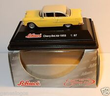MICRO METAL DIE CAST SCHUCO HO 1/87 CHEVROLET CHEVY BEL AIR 1955 JAUNE IN BOX
