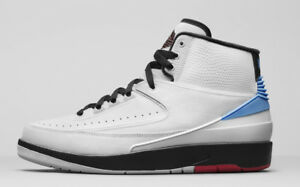 Nike Air Jordan 2 II Retro UNC Converse White Blue Red Size 8. 917931-900