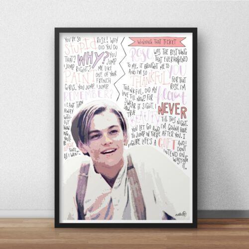 Jack Dawson Wall Art A3 Titanic Poster Print Leonardo DiCaprio Actor