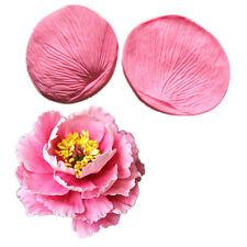 2x Peony Flower Petal Leaf Fondant Sugarcraft Cake Cutter Mould Embossing Decor