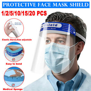 Full Face Shield Mask Clear Protective Film Flip Up Visor Safety Cover Anti-Fog