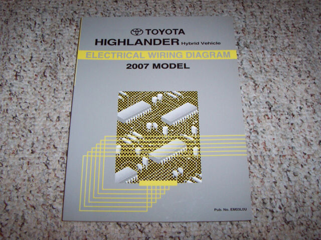 2007 Toyota Highlander Hybrid Electrical Wiring Diagram Manual Limited Sport V6