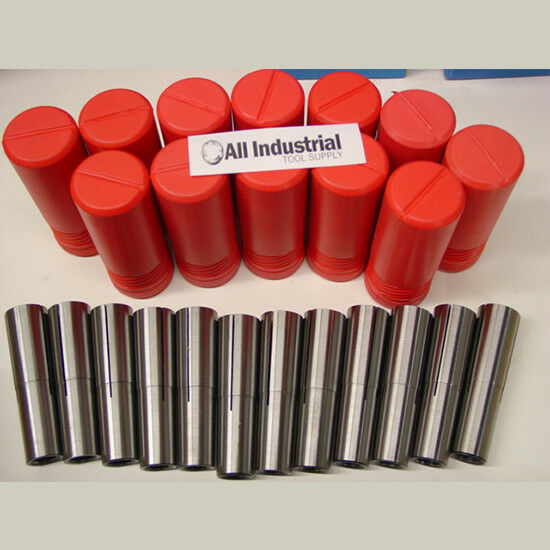 "5 PC #1 MORSE TAPER COLLET SET 1//16/"" TO 5//16/"" 1MT MT1 1//8/"" 3//16/"" 1//4/"" ROUND"