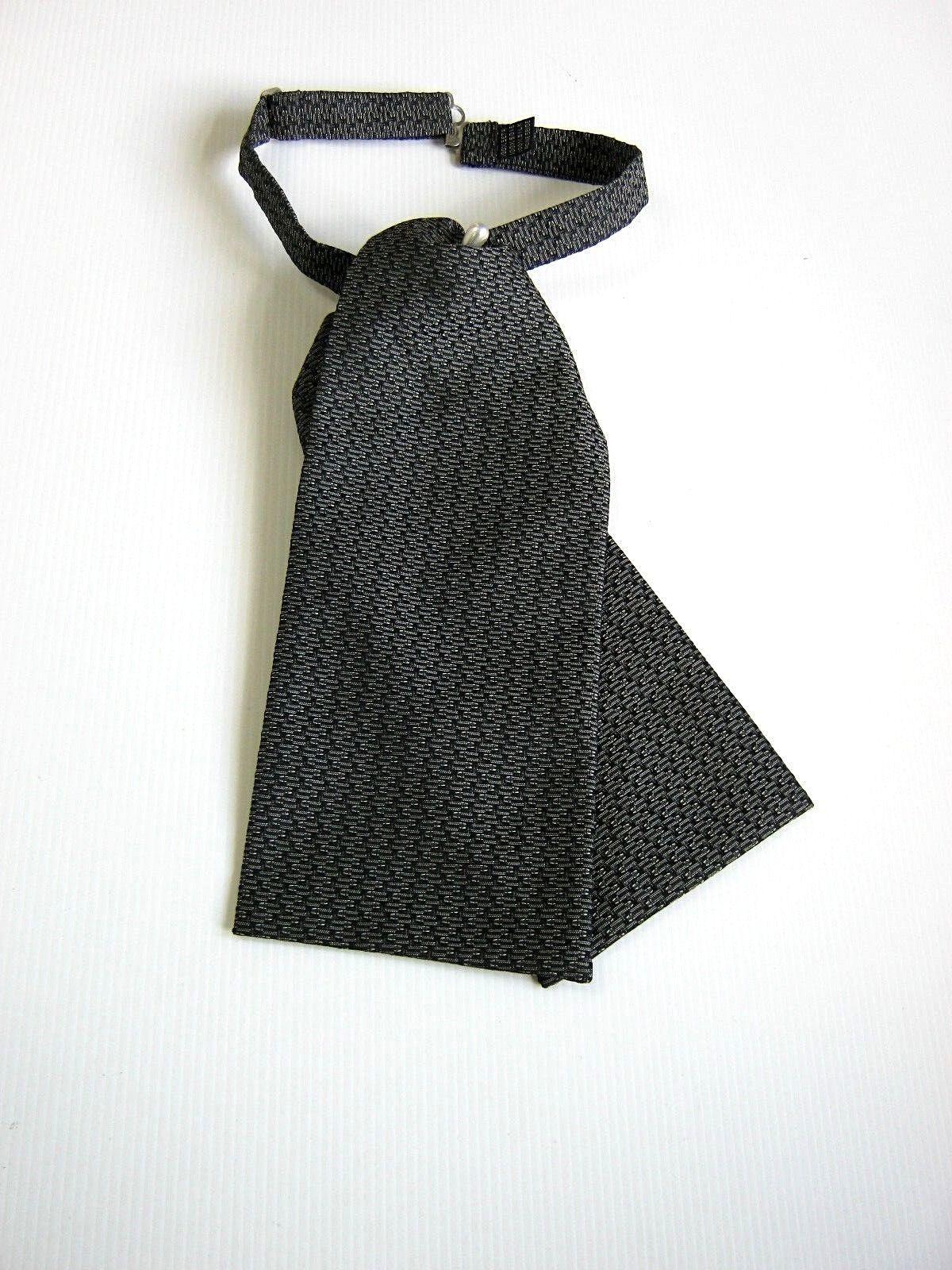 Plastron Tie Ceremony Groom Ceremony New Silk - Made IN Italy