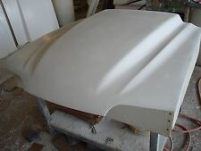 Fiberglass COBRA R 3 OR 4INCH Mustang Hood 87-93, bolt on with latch and hinges
