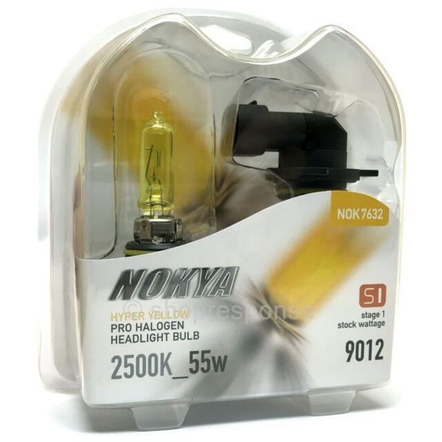 Nokya 2500K Yellow 9012 HIR2 Nok7632 55W Two Bulbs Head Light Dual Beam Replace