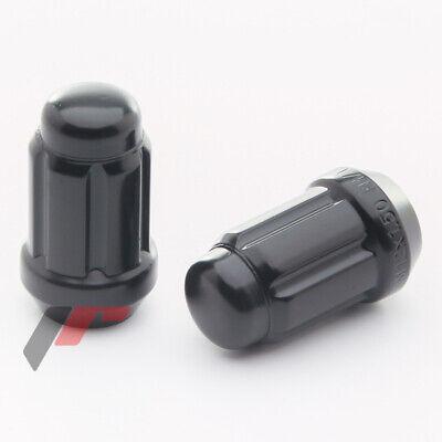 Aluminium Schwarz Verlängert Lug Nuts 60//90mm Spiked M12x1,5 Radmuttern 20er