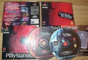 SONY-PLAYSTATION-1-PS2-3-Sony-Playstation-In-Cold-Blood-Playstation