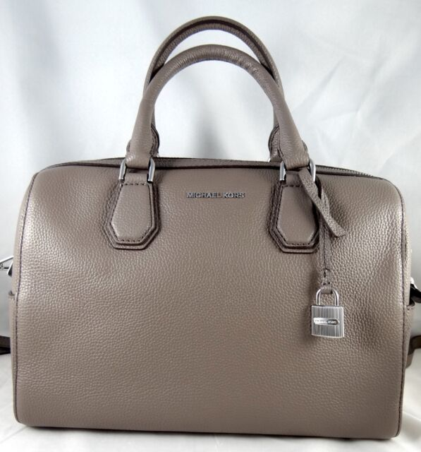 8edb518217b6 Michael Kors Mercer Medium Leather Duffel Cinder for sale online