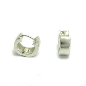 Echte-Sterling-Silber-Ohrringe-kleine-Creolen-massiv-punziert-925-handgefertigt