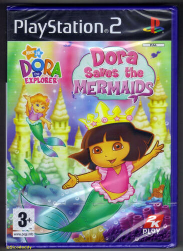 1 of 1 - PS2 Dora Saves The Mermaid (2008), UK Pal, Brand New & Sony Factory Sealed