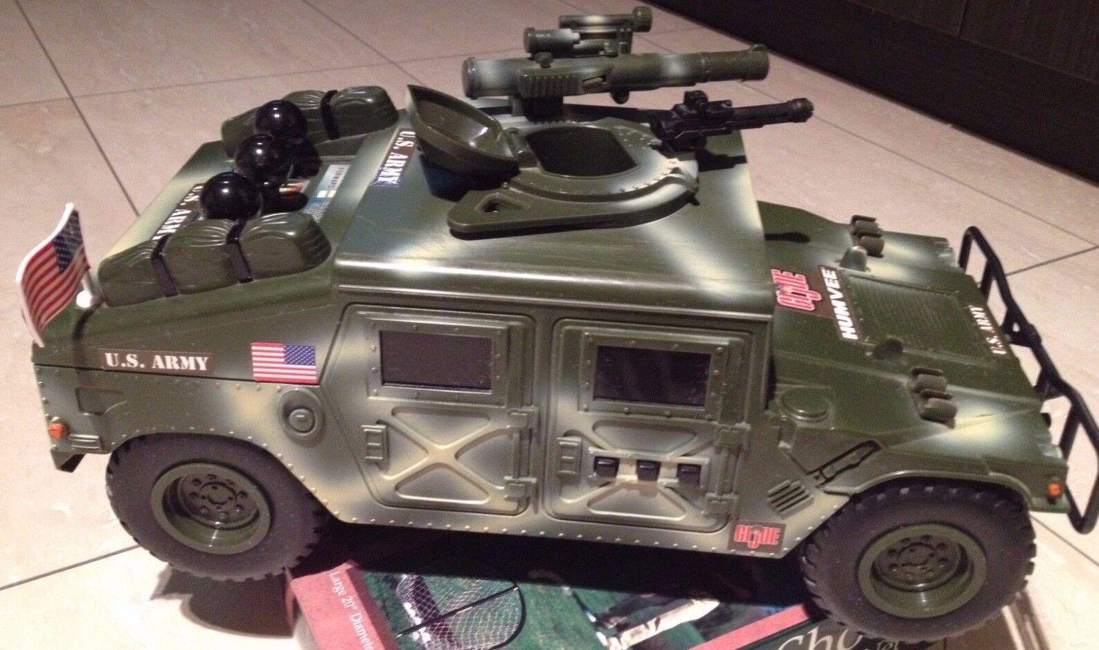 Gi Joe US Army  humvee    toys Military tank Vehicle Collectible rare big 15 inch e109ae