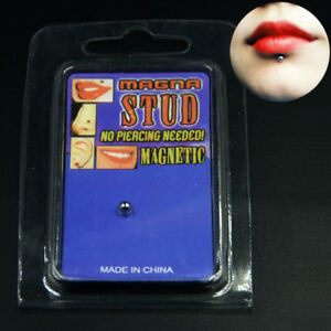 Magnetic-Fake-Cheater-Non-Pierced-Nose-Lip-Labret-Piercing-Stud-Ear-Plugs-Labret