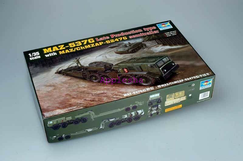 Trumpeter 00212 1 35 MAZ-537G Late with Semi-Trailer