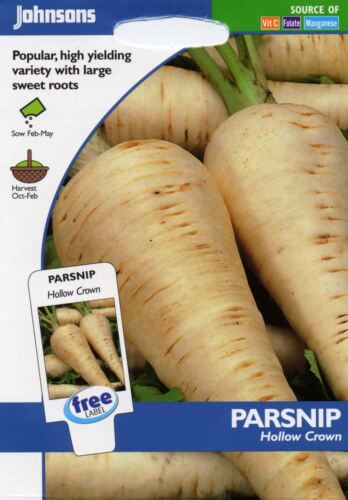 Johnsons semi-pittura Pack-verdura-pastinaca Hollow Crown 500 semi