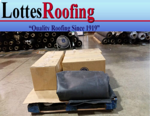 10/' x 35/' 60 MIL BLACK EPDM RUBBER  ROOF ROOFING BY THE LOTTES COMPANIES