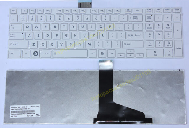 GENUINE FOR TOSHIBA SATELLITE L675D SERIES white US KEYBOARD