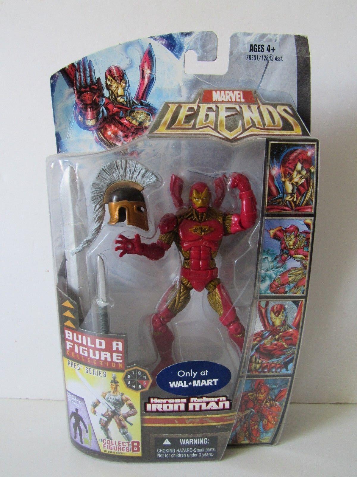 Marvel - legenden walmart exklusive ares baf helden wiedergeboren iron man abbildung nib