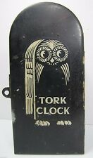 Old TORK CLOCK Co New York Casket Coffin Box electric light timer Industrial Owl