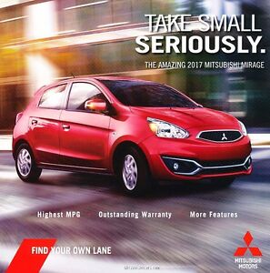 2017 mitsubishi mirage mpg original car sales brochure folder | ebay