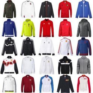 85c6efaa2b Dettagli su Adidas Calcio Giacche Tuta Inno Presentazione Palestra Cerniera  Intera Cappuccio