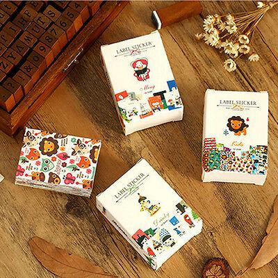 52* DIY Craft Kawaii Sticker Vintage Sticky Paper for Scrapbooking Decoration DS