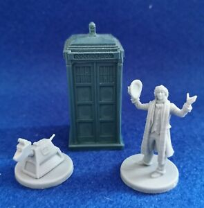 Dr Who Exterminate Game miniature of Fourth Doctor - K9 and Tardis