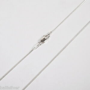 10-pieces-16-5-42cm-Sterling-SILVER-925-medium-thick-SNAKE-025-CHAIN-NECKLACES