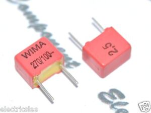 10pcs-WIMA-FKP2-270P-270PF-0-27nF-100V-2-5-pich-5mm-Capacitor