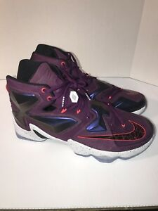 18377dcbce1 Nike Lebron XIII 13 Men s Basketball Shoes 807219-500 SZ 13 Mulberry ...