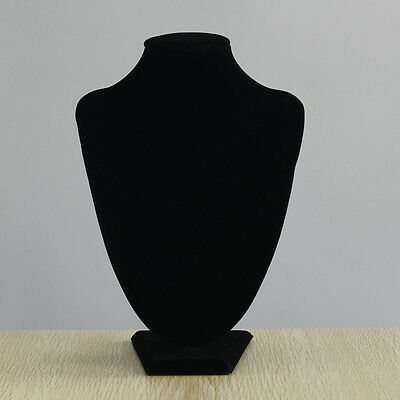 "Black Velvet Short Tiny Jewelry Necklace Callor Display Tower Rack 9.8x6.7"""