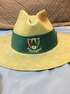 Vintage Mens Imperial Headwear Woven Straw Hat Pine Valley ...