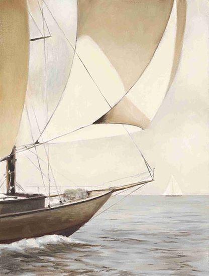 James Wiens: Full Sail Fertig-Bild 30x40 Wandbild Meer segeln Segelschiff