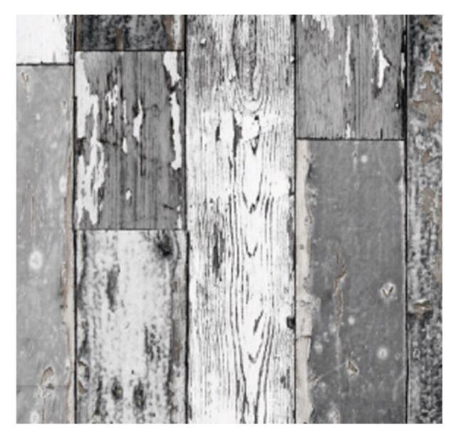 Klebefolie Holz Scrapwood dunkel grau 67,5 x 200 cm selbstklebende Möbel Folie