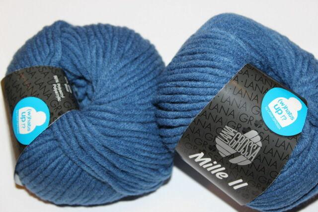 Wolle Kreativ! Lana Grossa - Mille II - Fb. 77 jeans 50 g